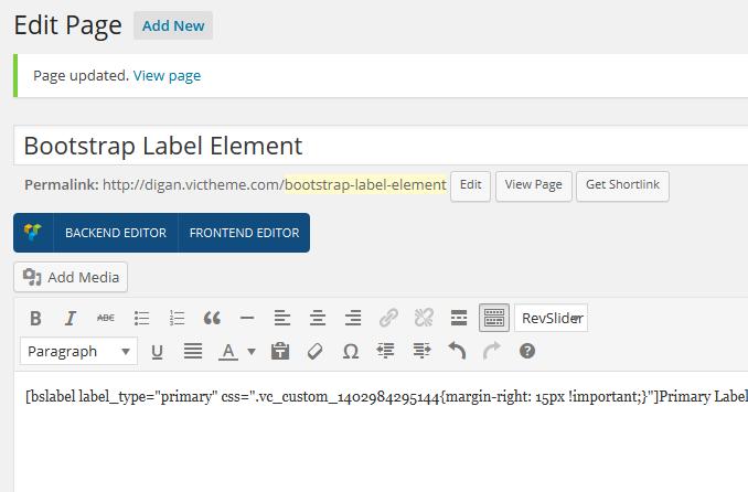 label-shortcode